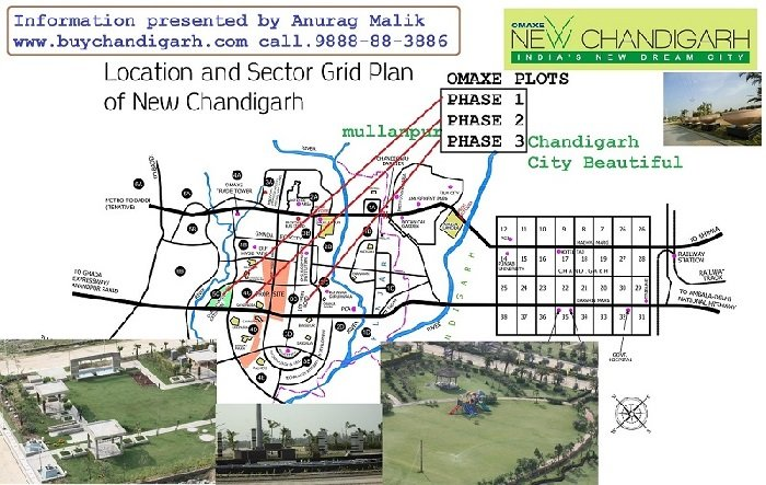 omaxe plots phase 2 new chandigarh mullanpur location map