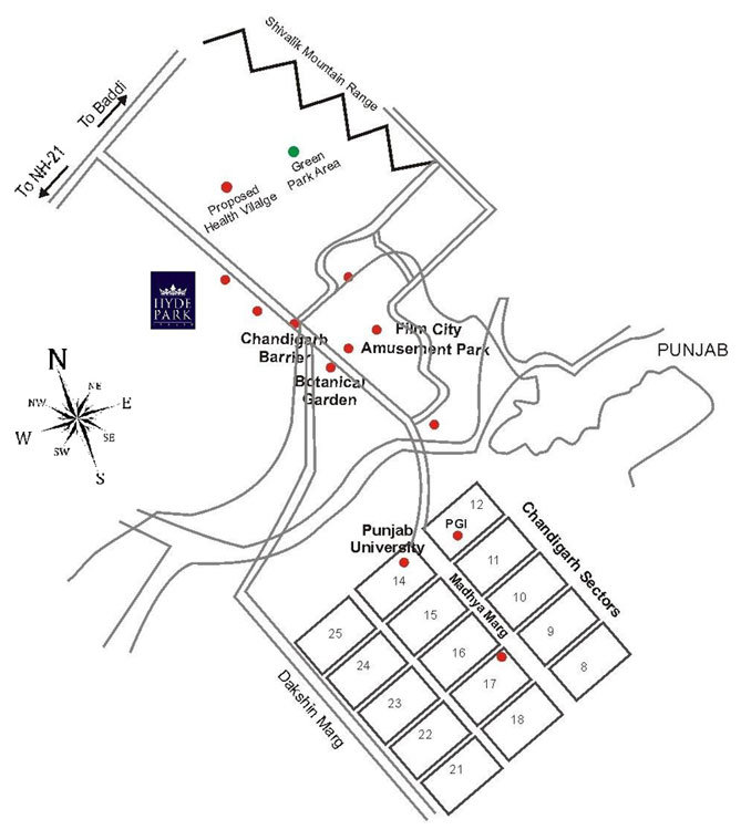 Dlf Hyde Park Location Map