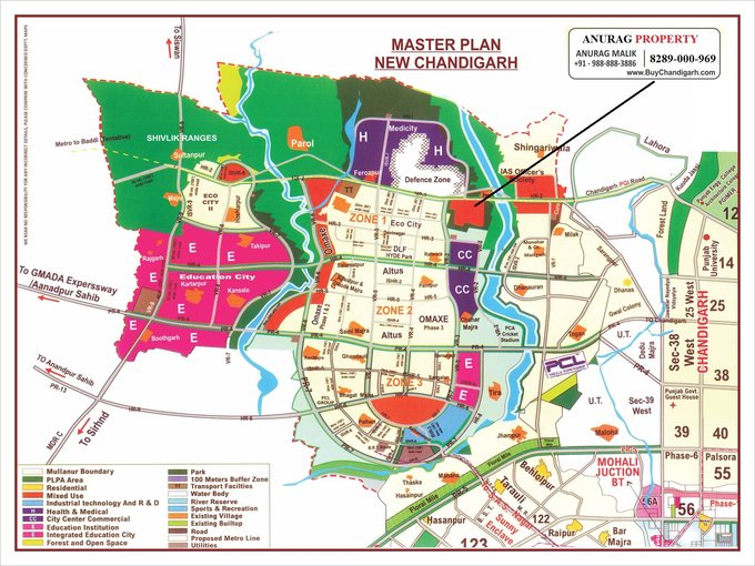new chandigarh latest master plan with chandigarh connected