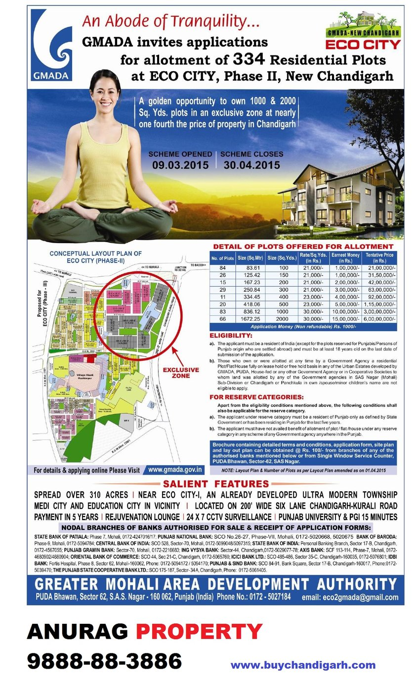 gmada eco city-2 draw application scheme
